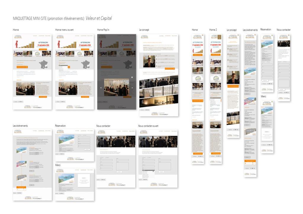 maquettage d'un site